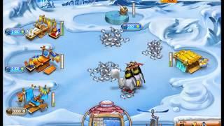 Прохождение игры Весёлая ферма Ледниковый период. Уровень   20. Наряжаем мишку в снегурочку