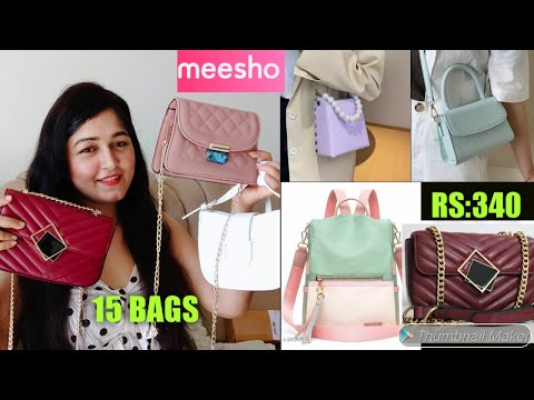 Meesho 15 Best Quality Bags Haul Start Rs:230/ Sling Bag, Hand Bag, Backpack Clutch Haul #Meesho