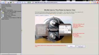 isuzu fuel injector flow rate programming using idss software