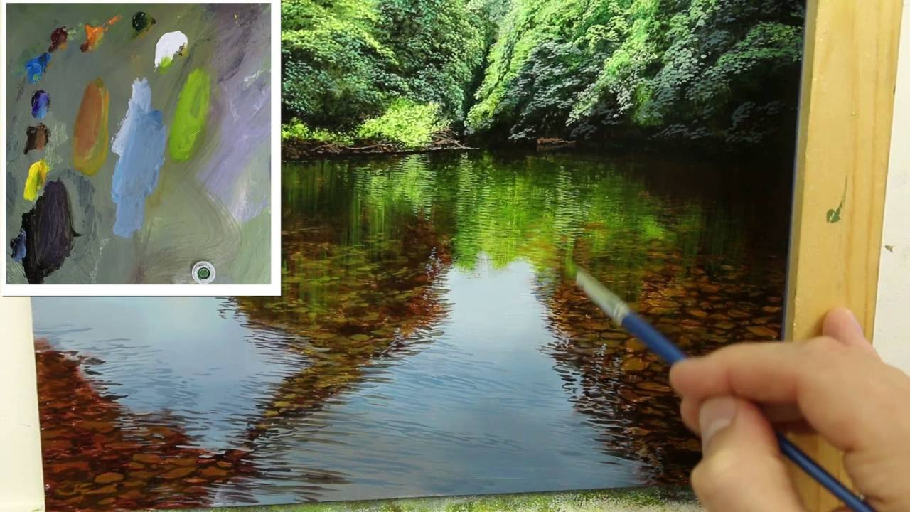 44 How To Paint A Shallow River Oil Painting Tutorial