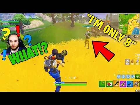 Little kid CARRIED me with guided missiles... I would have LOST! (Fortnite Guided Missile Update)