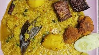 Kichuri recipe bangali style e || moong daal r kichuri
