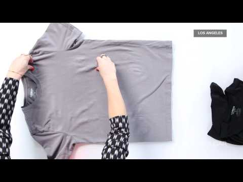 How to Fold a T-Shirt Perfectly Every Time   Fashion How To
