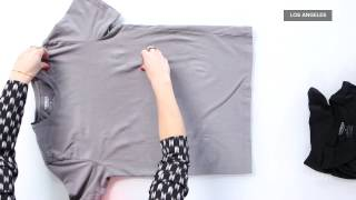 How to Fold a T-Shirt Perfectly Every Time | Fashion How To
