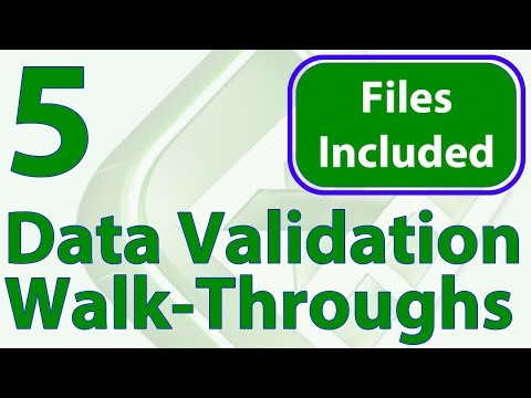 5 Data Validation Tricks - Workbook Included