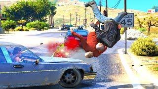 GTA 5 Crazy & Deadly Motorcycle Crashes/Jumps vol.2 - GTA V Ragdolls Compilation (Euphoria physics)