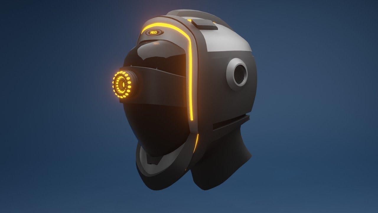 Robot helmet Blender 2.8 - Timelapes