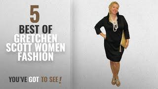 Gretchen Scott Women Fashion [2018 Best Sellers]: Gretchen Scott Black Ruffneck Jersey Dress M Black