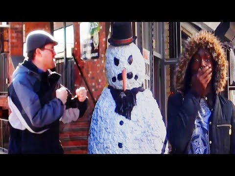 Scary Snowman - Mice OR Men - Try Not To Laugh