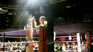 Toby Bindon Muay Thai fight at clash of the Thaitans fight night. KO!!!