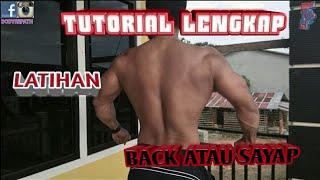 Cara lengkap latihan sayap back atau punggung di GYM FITNES
