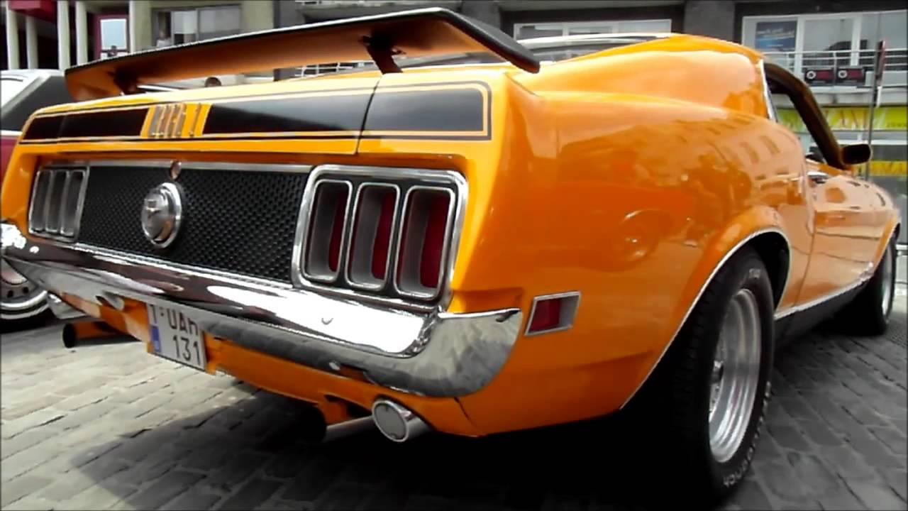 1970 ford mustang mach 1 351 cobra jet start up and. Black Bedroom Furniture Sets. Home Design Ideas