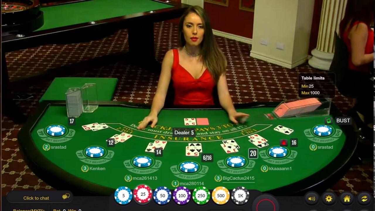 Cute Pretty Girl Blackjack Malaysia Live Casino Youtube