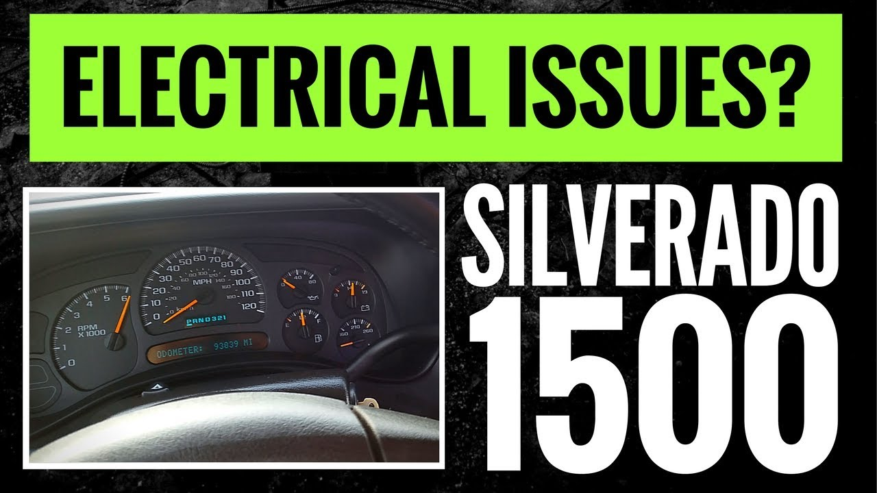 2003 2006 silverado 1500 electrical problems instrument cluster not working 94k miles 4k  [ 1280 x 720 Pixel ]