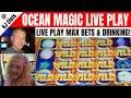 Ocean Magic Live Play Bonus Games & General Casino Slot Machine Drunkenness
