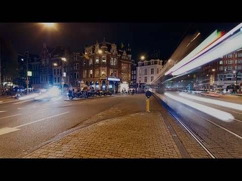 Amsterdam - Muntplein by Night Panning Timelapse