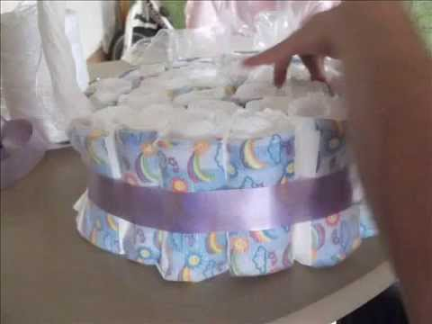 Canasta de pa ales para baby shower youtube for Adornos para pieza de bebe