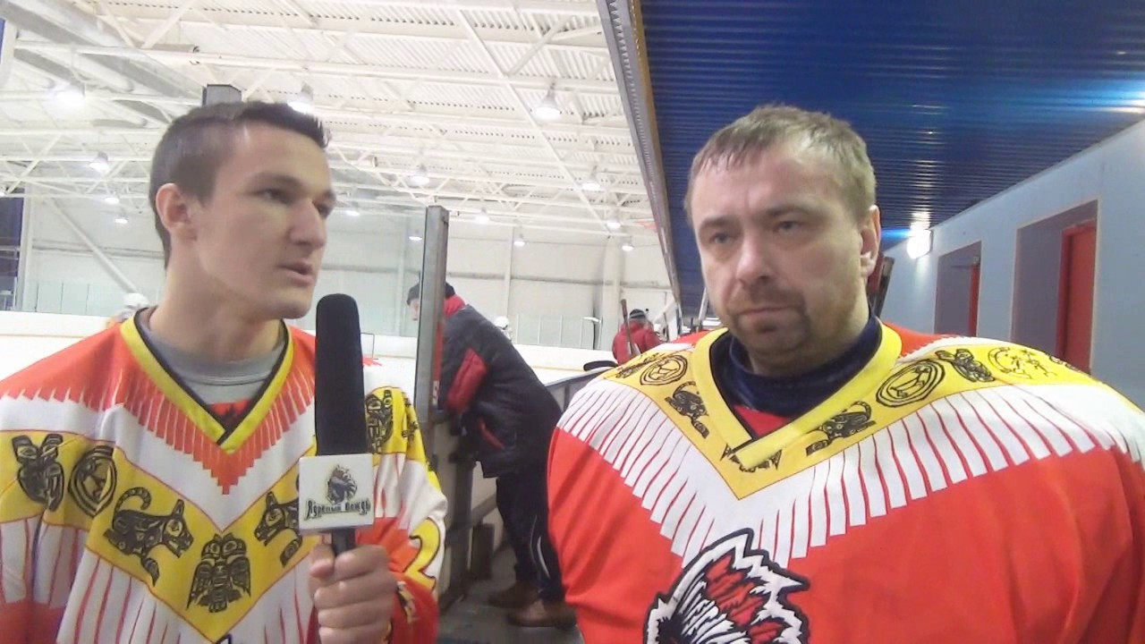 Интервью с Сергеем Григорьевым после первого периода Ядрёный Вождь vs Сталкер от 18.02