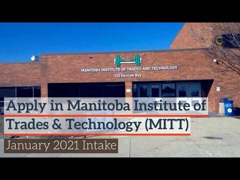 Manitoba Institute of Trades And Technology (MITT): January 21 | Winnipeg | Manitoba | Apply Global