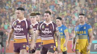 Rugby League Live 4 (PS4) Broncos vs Eels (2018 round 12)