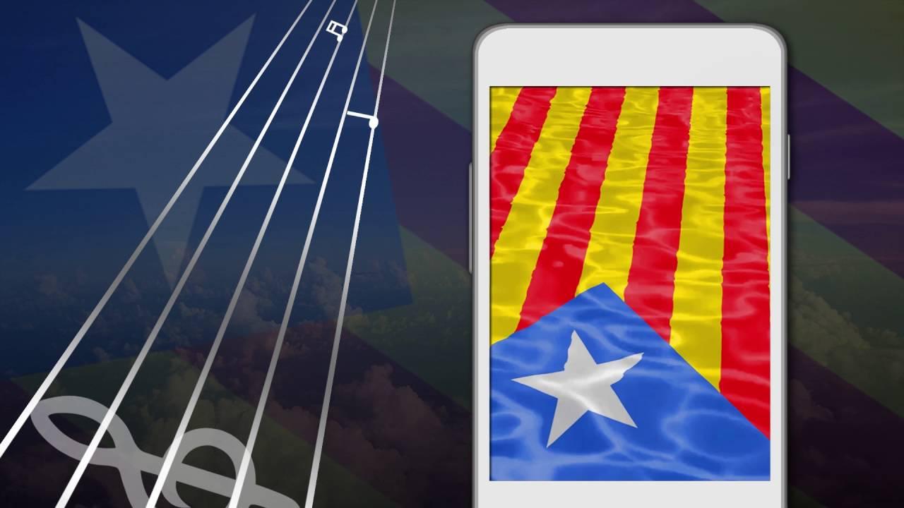 Catalan Flags Wallpaper Live - Bandera Catalana Fons Pantalla