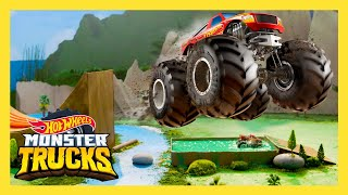 EPIC MONSTER TRUCK SLIME JUMP | Monster Trucks | Hot Wheels