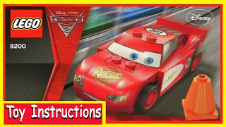 Lightning McQueen Cars 2 Lego - How To Build -Disney- 8484-Instructions