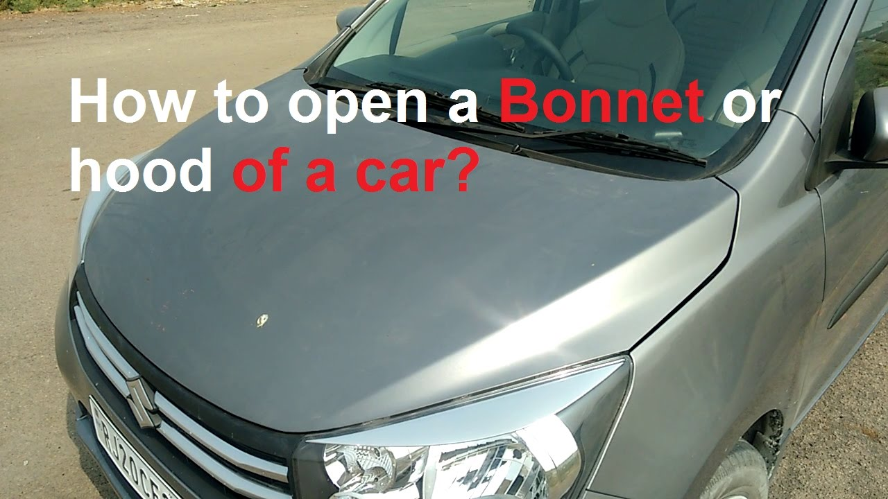 How to open bonnet
