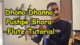 ধন ধান্য পুষ্প ভরা বাঁশি টিউটোরিয়াল 2020 | Dhono Dhanno Pushpo Bhora (Instrumental) Flute Tutorial