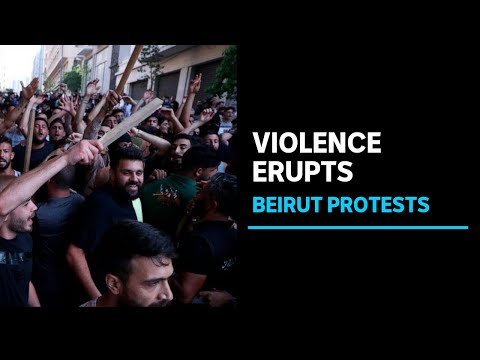 Shots fired in Beirut as citizens vent fury at politicians | ABC News