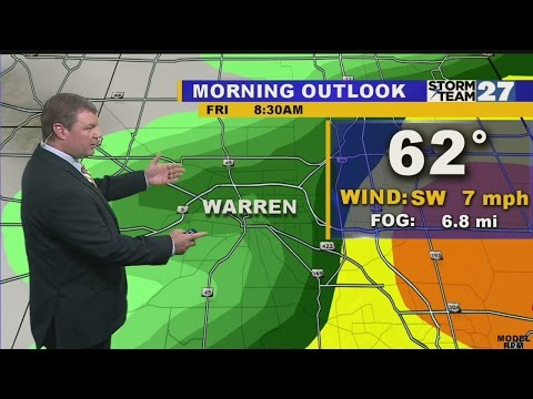 WARREN WEATHER Friday Morning 10-09-2015