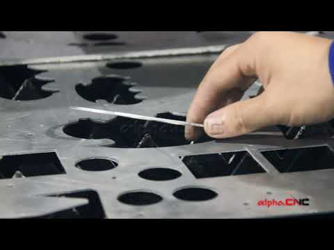 AlphaCNC 750W Fiber Laser Cutting Machine cutting 2mm Aluminum