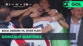 Gonzalo Martínez (0-1) Boca Juniors vs River Plate | Fecha 6 - Superliga Argentina 2018/2019