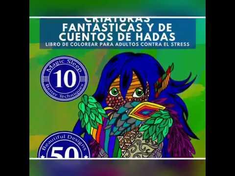 antiestres-libro-de-colorear-para-adultos:-criaturas-fantásticas-y-de-cuentos-de-hadas---mandalas