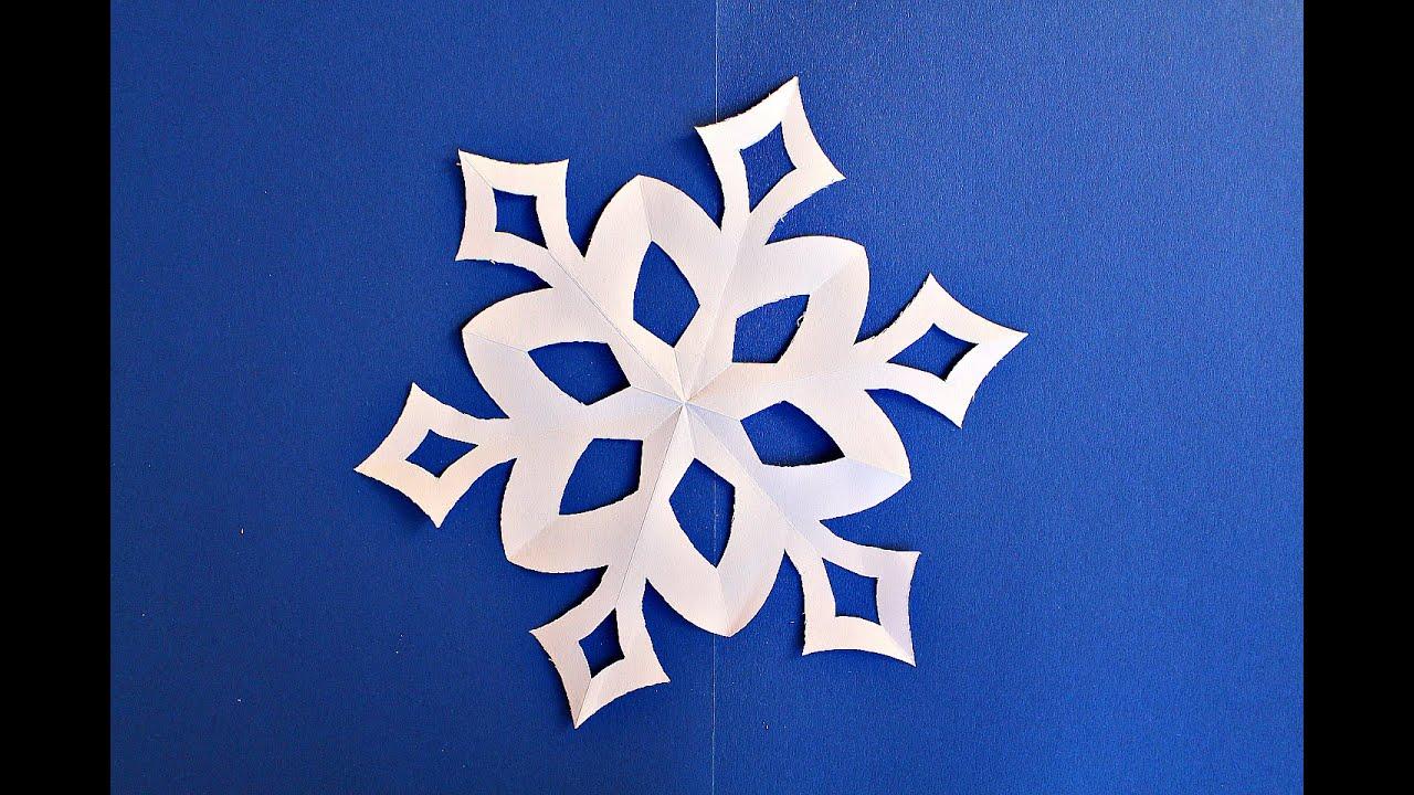 Как вырезать простую снежинку из бумаги. Новогодние поделки  Paper Snowflakes