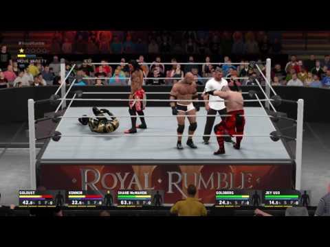 WWE 2K17 Goldberg destroys 29 Superstars in the Royal Rumble Match