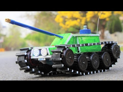 How To Make a Tank - Remote Control Tank - Car