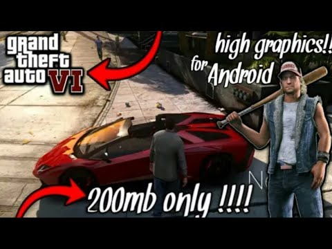 (200MB) How To Download GTA 6 In Your Android Phone APK+OBB File Absulately Free GTA VI Is Here.☺