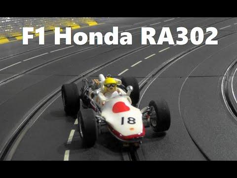 Slot Car  Honda F1 RA302 No18  1968 in Carrera Slot Car Race Track   スロットカー  ホンダF1 RA301(1/24Scale)
