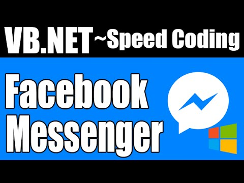 [VB.NET] Facebook Messenger (Windows) (Unofficial) - Speed Coding #1