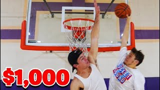 Beat Me 1 vs 1, I'll Give You $1,000 *I DUNKED*