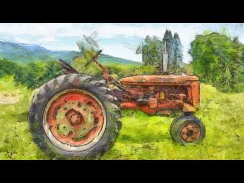 Vintage Tractor Artwork by Edward M. Fielding