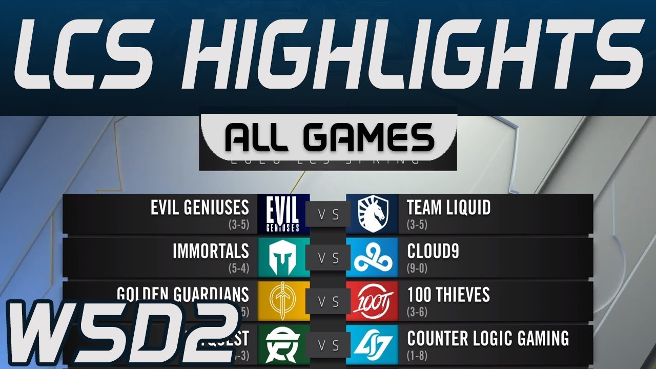LCS Highlights Week5 Day2 LCS Spring 2020 All Games By Onivia