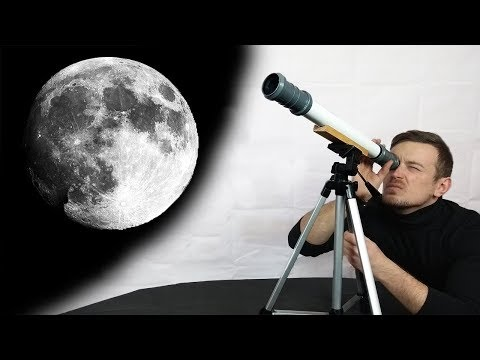 How To Make a DIY Telescope to see the Moon for $20