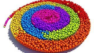 Учим Цвета с 3D  Спиралью из конфет. Развивающие мультики и обучающие видео обзоры детских игрушек