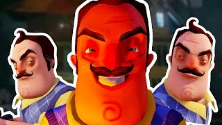 THE NEIGHBOUR CAN TELEPORT!!! - Hello Neighbor (Alpha 3) - Neighbour Glitch
