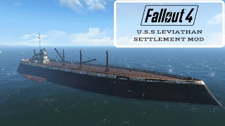 Fallout 4: U.S.S Leviathan Settlement Mod (Link in the Description)