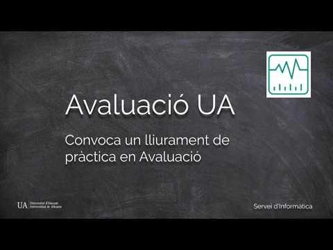 Lliurament de pràctica en Avaluació / Entrega de práctica en Evaluación