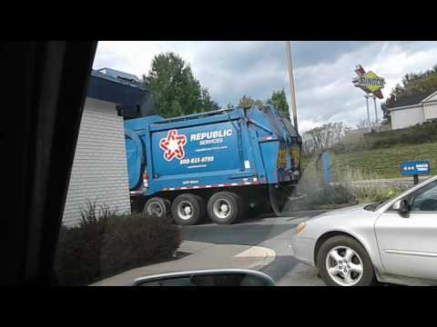 Republic waste service at McDonalds in Maryland