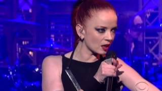"Garbage live on Letterman -""The Battle In Me"" 3/20/13"